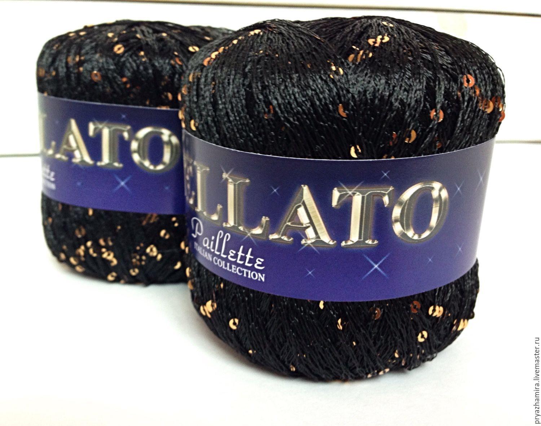 Купить пряжа с пайетками stellato (италия) - черный, пряжа, .