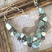 Украшения handmade. Livemaster - original item Necklace of natural Larimar