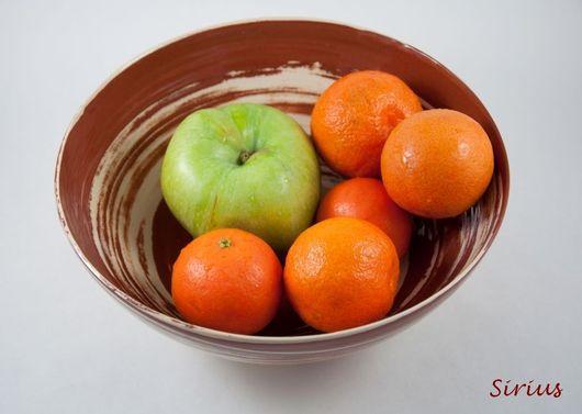 """Тарелки ручной работы. Ярмарка Мастеров - ручная работа. Купить Фруктовница """"Вихрь 1"""". Handmade. Тарелка, для фруктов, керамическая миска"""