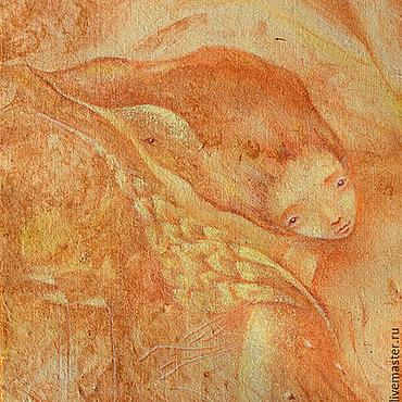 Картины и панно ручной работы. Ярмарка Мастеров - ручная работа Осень. Такое Настроение... Ветер-птица в волосах. Сказочная картина.. Handmade.