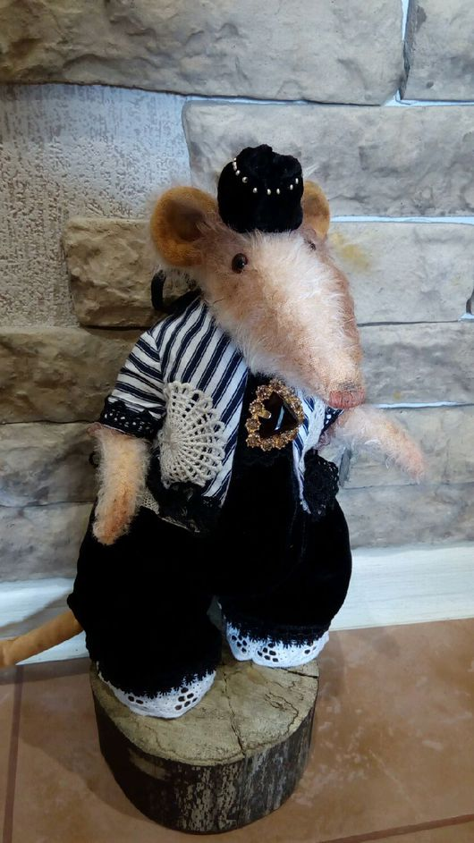 Мишки Тедди ручной работы. Ярмарка Мастеров - ручная работа. Купить Крыса Адель. Handmade. Крыса, подарок, мохер Германия