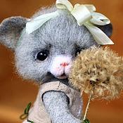 Куклы и игрушки ручной работы. Ярмарка Мастеров - ручная работа Мышка Маришка и одуванчик. Handmade.