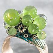 Rings handmade. Livemaster - original item ring in the edge of water hyacinth. Handmade.