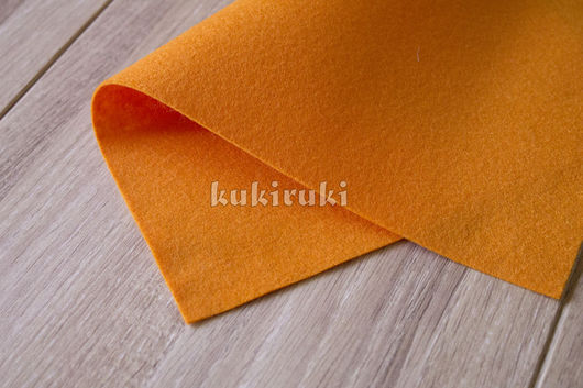 Валяние ручной работы. Ярмарка Мастеров - ручная работа. Купить Оранжевый мягкий корейский фетр. Handmade. Фетр, фетр для творчества