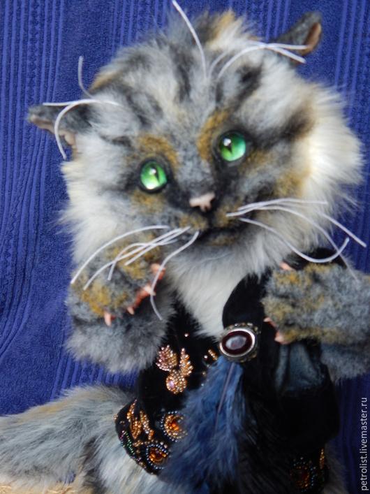 Коллекционные куклы ручной работы. Ярмарка Мастеров - ручная работа. Купить Генрих. Handmade. Котик, разноцветный, стеклянные глазки