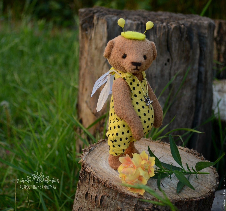 handmade, the author's Teddy bear, collectible toy, Teddy bear bee, bear, buy, gift, interior design toy