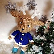 Stuffed Toys handmade. Livemaster - original item Ready: Christmas deer. Handmade.