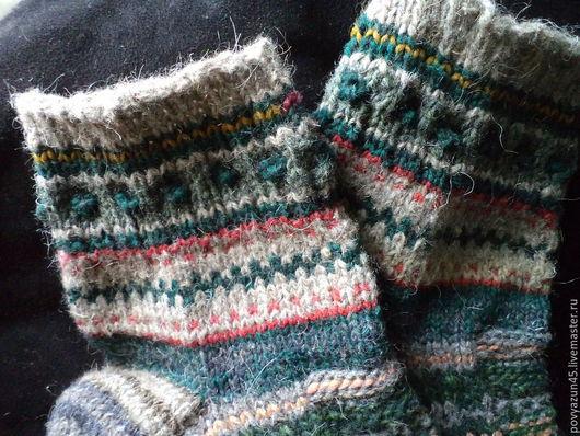 Этническая одежда ручной работы. Ярмарка Мастеров - ручная работа. Купить Вязаные разноцветные носки.. Handmade. В полоску, в подарок