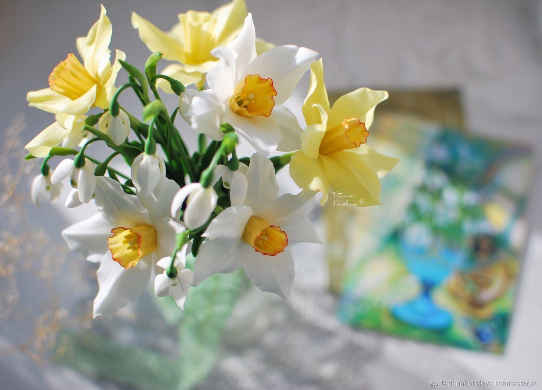 Нарциссы и подснежники, Цветы, Уфа,  Фото №1