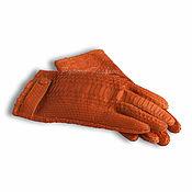 Аксессуары handmade. Livemaster - original item Gloves made from Python ZIRAH. Handmade.