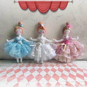 Куклы и игрушки ручной работы. Ярмарка Мастеров - ручная работа Куклы: Маленькие балеринки. Handmade.