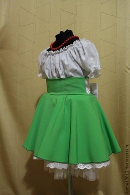 Одежда для девочек, ручной работы. Ярмарка Мастеров - ручная работа. Купить Платье для девочки «Барышня-крестьянка». Handmade. Однотонный, вискоза