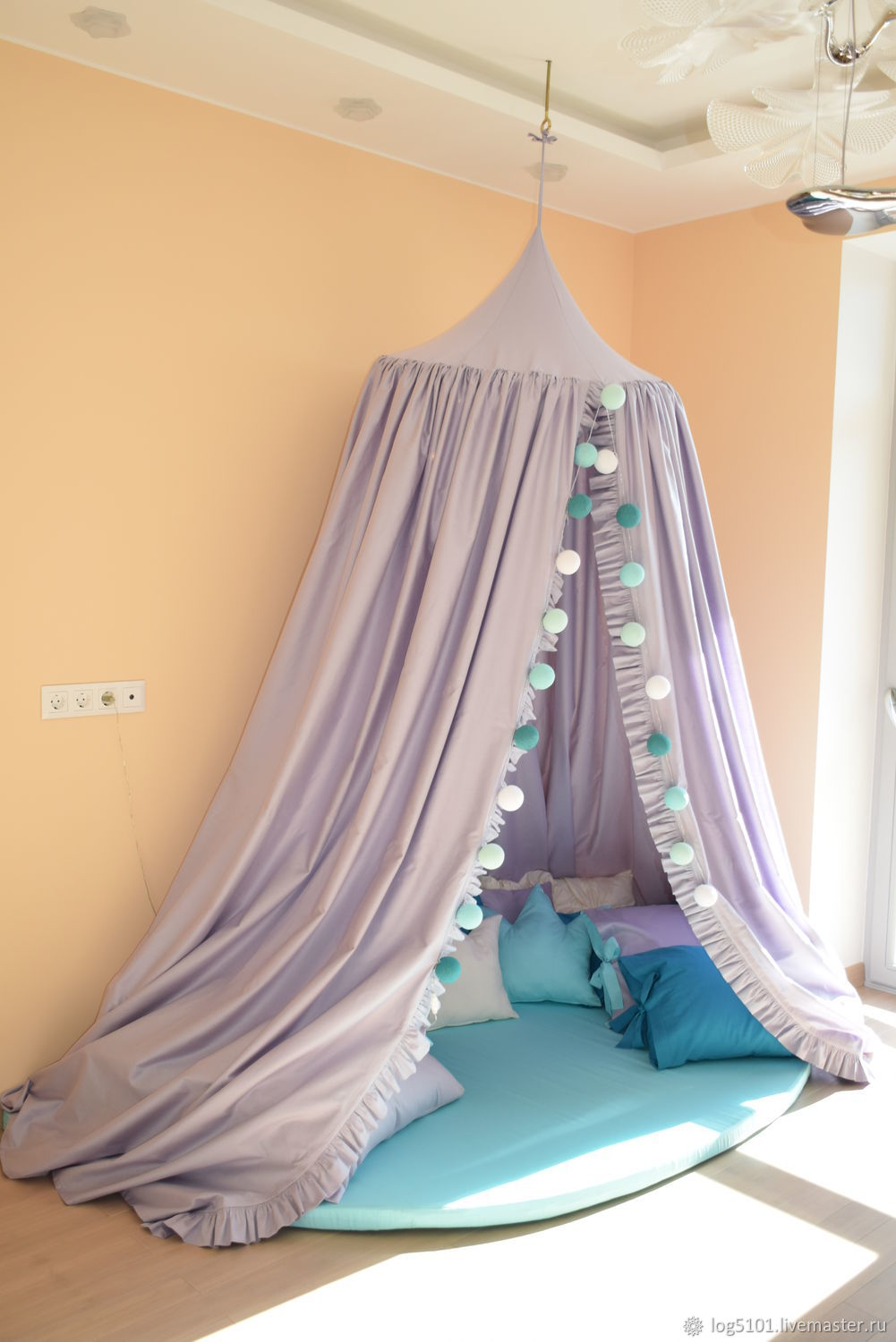 The magic play tent ' March '/ the four poster bed, the canopy in the nursery, Canopy for crib, Moscow,  Фото №1