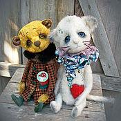 Куклы и игрушки ручной работы. Ярмарка Мастеров - ручная работа Девочка с мухомором. мишка тедди винтаж мишка тедди. Handmade.