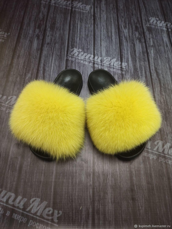 Arctic fox Fur Flip flops, Flip flops, Nalchik,  Фото №1