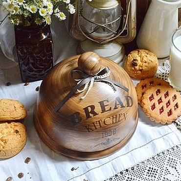 """Для дома и интерьера ручной работы. Ярмарка Мастеров - ручная работа Хлебница клош """"Bread"""". Handmade."""
