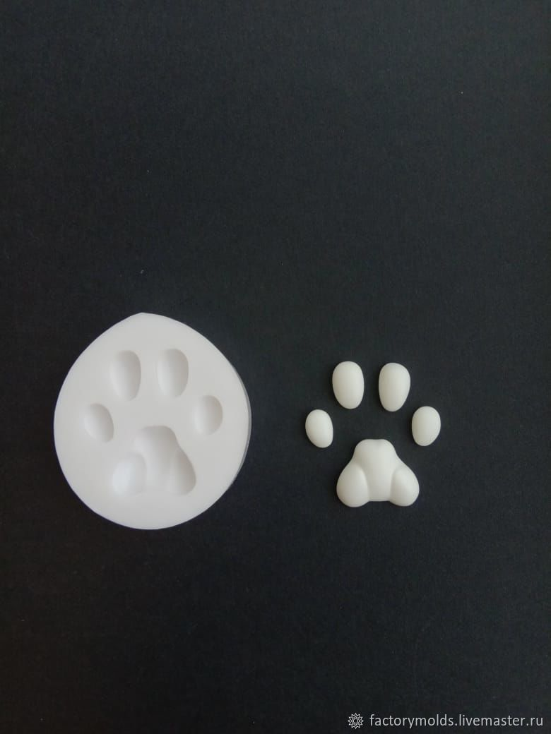 Mold paw 11mm cat, Tools for dolls and toys, Ekaterinburg,  Фото №1