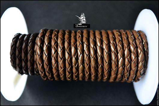Для украшений ручной работы. Ярмарка Мастеров - ручная работа. Купить Коричневый шнур из натуральной кожи.. Handmade. Коричневый