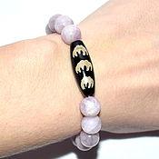 Украшения handmade. Livemaster - original item Kunzite bracelet with JI bead 5 bats. Magic beads. Handmade.