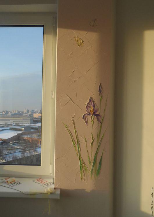 Картины цветов ручной работы. Ярмарка Мастеров - ручная работа. Купить декоративная  штукатурка. Handmade. Комбинированный, декоративное панно