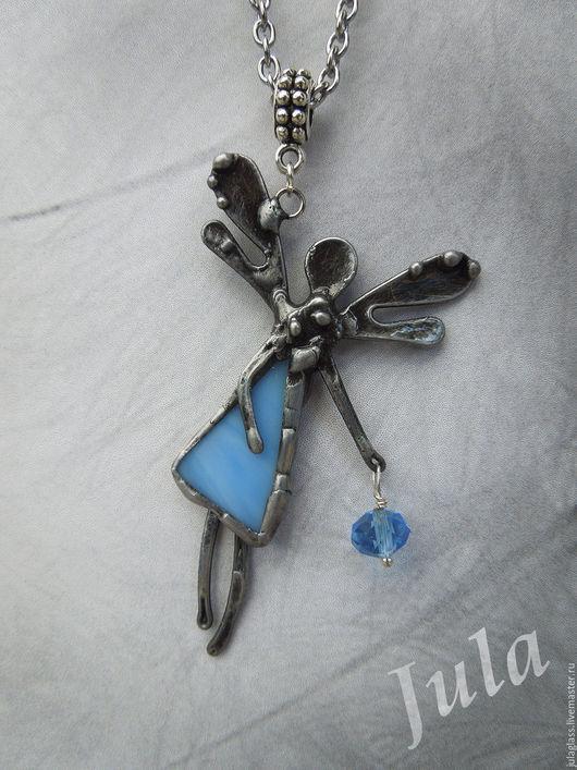 """Кулоны, подвески ручной работы. Ярмарка Мастеров - ручная работа. Купить Кулон """"Застенчивый ангел"""". Handmade. Голубой, хранитель, тиффани"""