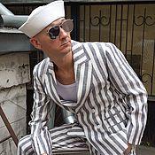 Одежда ручной работы. Ярмарка Мастеров - ручная работа Мужской костюм из льна. Handmade.