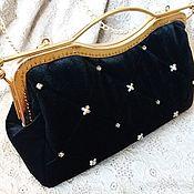 Сумки и аксессуары handmade. Livemaster - original item Bag with clasp velvet