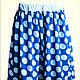 Юбки ручной работы. Ярмарка Мастеров - ручная работа. Купить Гороховая юбочка. Handmade. Голубой, юбка, горошек, Плательная ткань