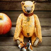Куклы и игрушки ручной работы. Ярмарка Мастеров - ручная работа тедди мишка Тимошка и его друг Тотошка. Handmade.