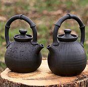 """Посуда ручной работы. Ярмарка Мастеров - ручная работа Чайник для пуэра """"Бамбук"""". Авторская керамика ручной работы.. Handmade."""