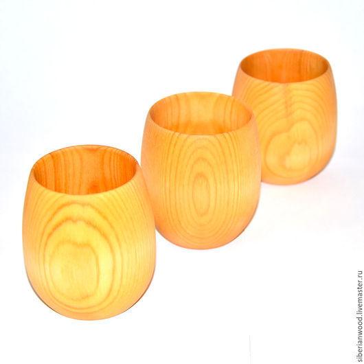 Кружки и чашки ручной работы. Ярмарка Мастеров - ручная работа. Купить Стакан кружка деревянная (набор) для чая и др из натурального кедра N3. Handmade.