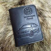 """Обложки ручной работы. Ярмарка Мастеров - ручная работа Обложка для документов """"Volkswagen Passat"""". Handmade."""