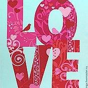 """№380 американский хлопок, панель """"LOVE"""""""