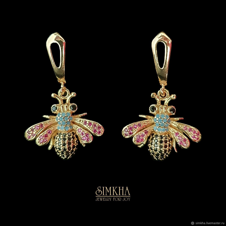 Earrings with flies, Earrings, Netanya,  Фото №1