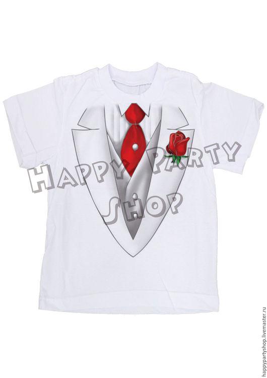 """Одежда унисекс ручной работы. Ярмарка Мастеров - ручная работа. Купить Детская футболка """"Фрак"""". Handmade. Белый, футболка фрак"""