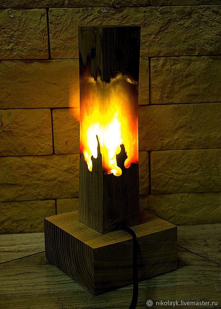 "Лампа-ночник ""Пламя свечи"", Ночники, Москва, Фото №1"