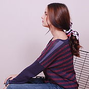 Одежда handmade. Livemaster - original item Slim cashmere pullover in berry shades. Handmade.