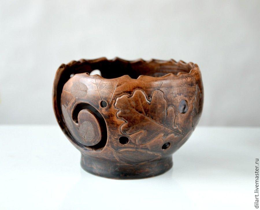 Клубочница керамическая Теплый плед чаша для вязания