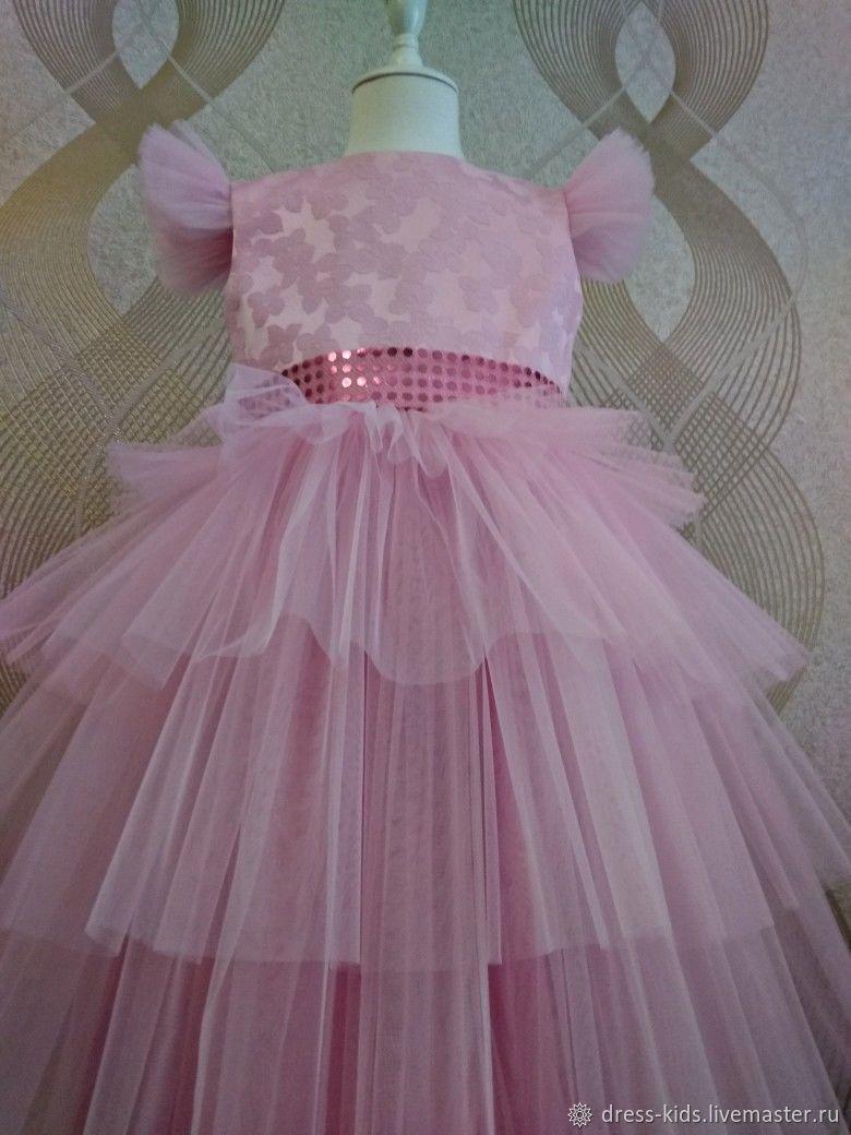 """Нарядное платье """" Розовое облачко"""""""