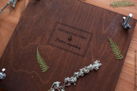 Пресс для сушки вашего гербария. Альбом для гербария  Гербарий. Flight of imaginations