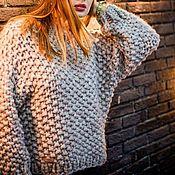Одежда handmade. Livemaster - original item Cable knit pearl color. Handmade.