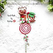 """Подарки к праздникам ручной работы. Ярмарка Мастеров - ручная работа Елочное украшение """"Christmas Train"""". Handmade."""