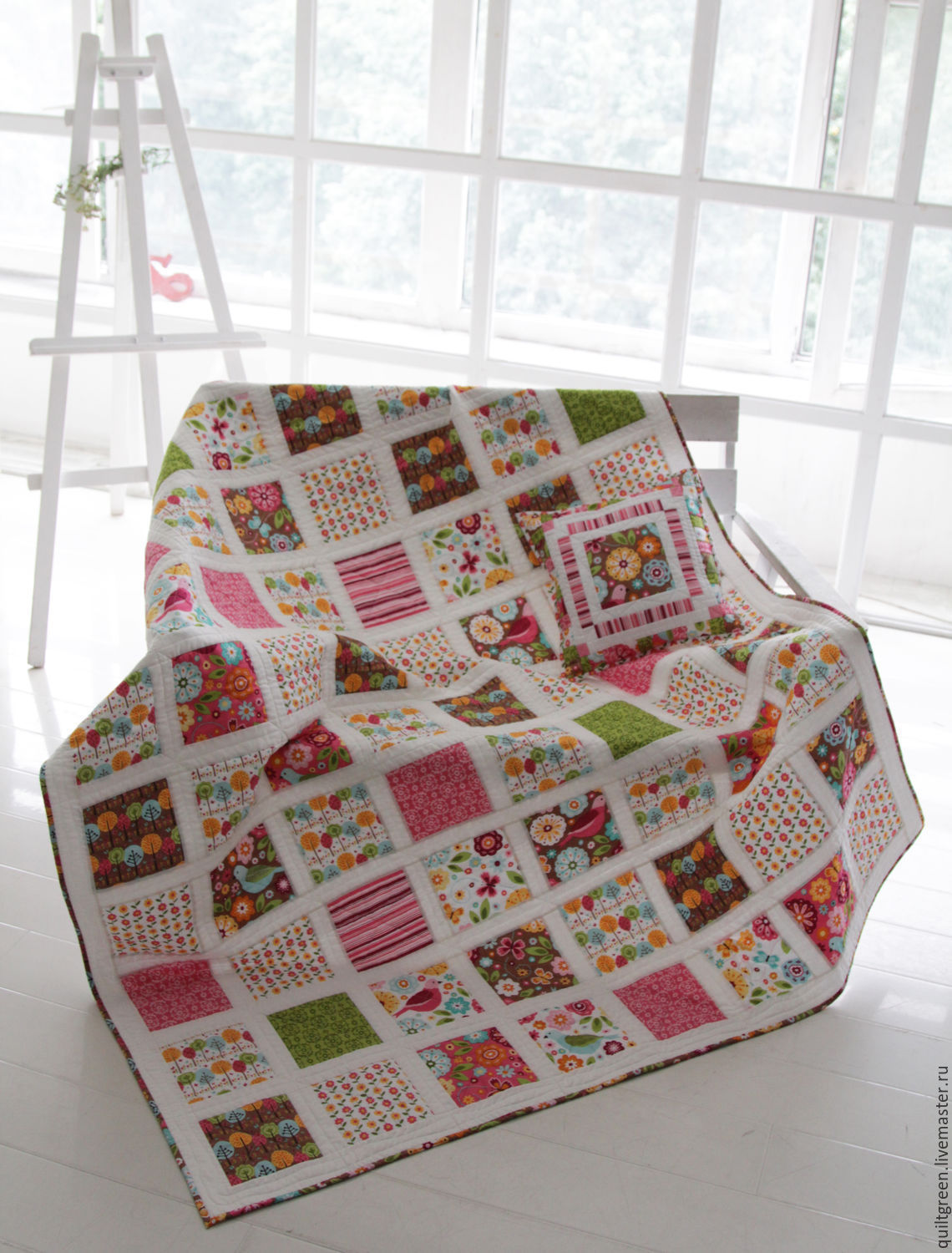 Quilt with pillow case 'August', Blanket, St. Petersburg,  Фото №1