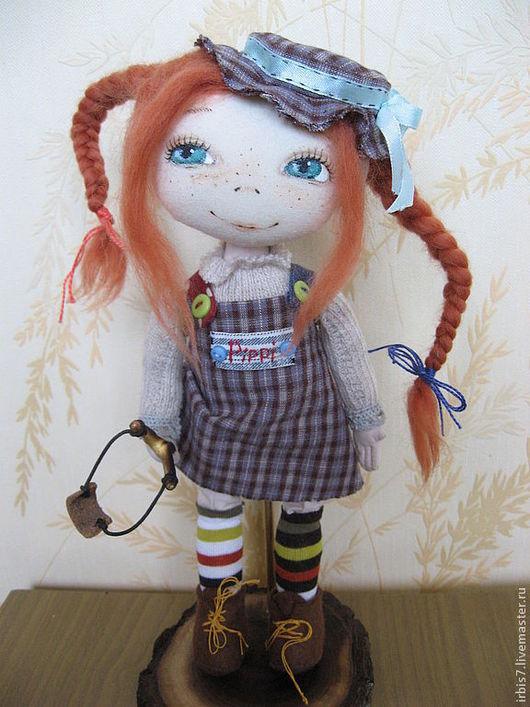 Коллекционные куклы ручной работы. Ярмарка Мастеров - ручная работа. Купить Пеппи - длинный чулок. Handmade. Сиреневый, Пеппи