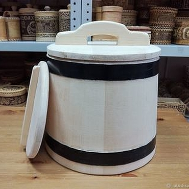 Для дома и интерьера ручной работы. Ярмарка Мастеров - ручная работа Кадка деревянная из кедра для засолки 10 литров. Кадушка для солений. Handmade.