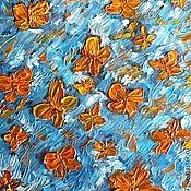 """Картины и панно ручной работы. Ярмарка Мастеров - ручная работа Картина """"День оранжевых бабочек"""".. Handmade."""