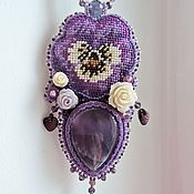"""Украшения ручной работы. Ярмарка Мастеров - ручная работа Кулон """"Виолетта"""". Handmade."""