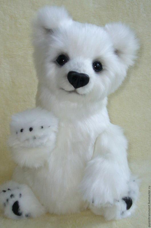 Мишки Тедди ручной работы. Ярмарка Мастеров - ручная работа. Купить Мишка Снежка (36 см). Handmade. Белый