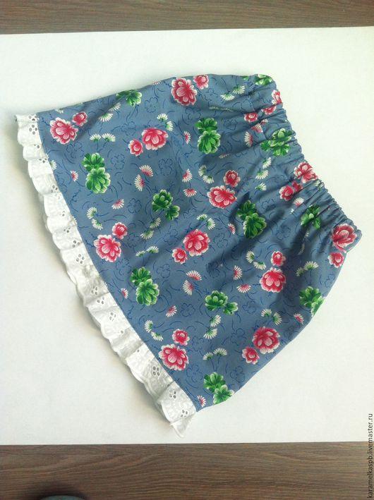 Одежда для девочек, ручной работы. Ярмарка Мастеров - ручная работа. Купить Юбочка для принцессы. Handmade. Васильковый, юбка для девочки