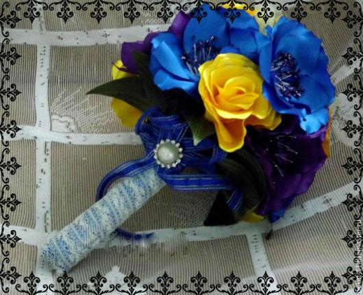 """Свадебные цветы ручной работы. Ярмарка Мастеров - ручная работа. Купить Букет """"Краски"""". Handmade. Разноцветный, свадебный букет"""